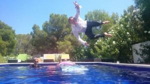 ibiza pool jump